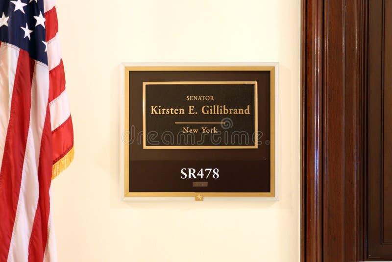 Bureau du sénateur Kirsten Gillibrand des Etats-Unis photographie stock
