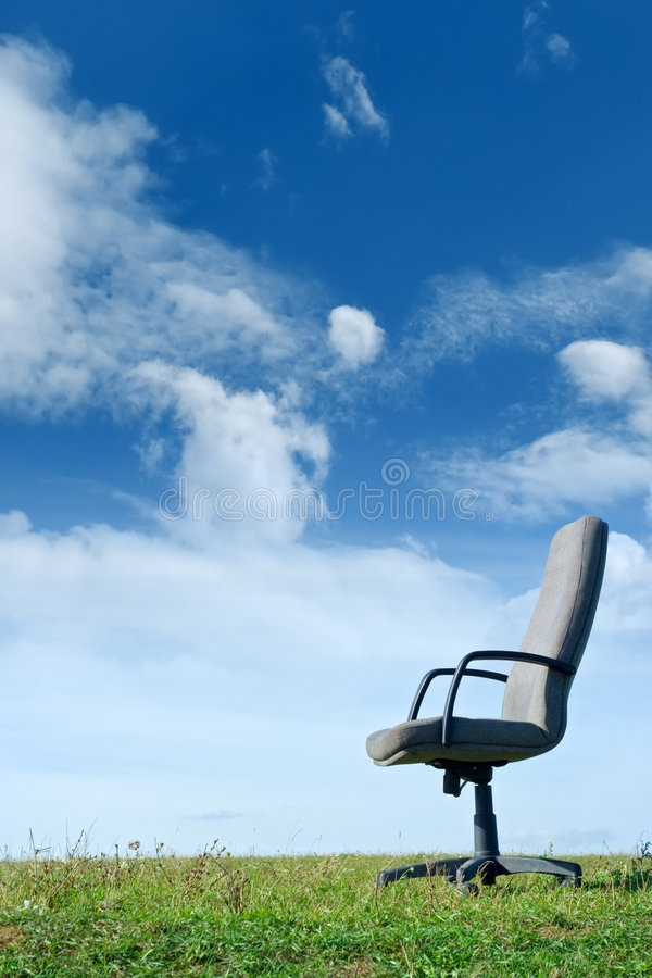 Bureau en nature image stock
