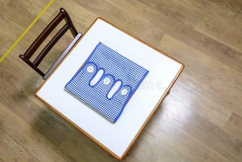 Bureau en stoel in pre school stock afbeelding afbeelding
