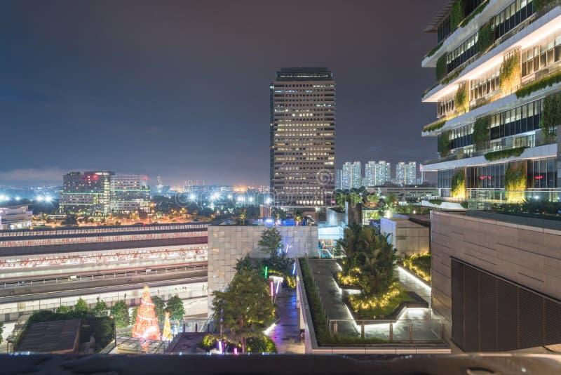 Bureau et bâtiments résidentiels à Singapour images libres de droits