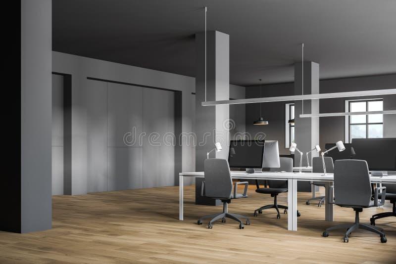 Bureau gris de l'espace ouvert de style industriel illustration libre de droits