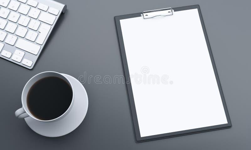 Bureau met Leeg Document vector illustratie