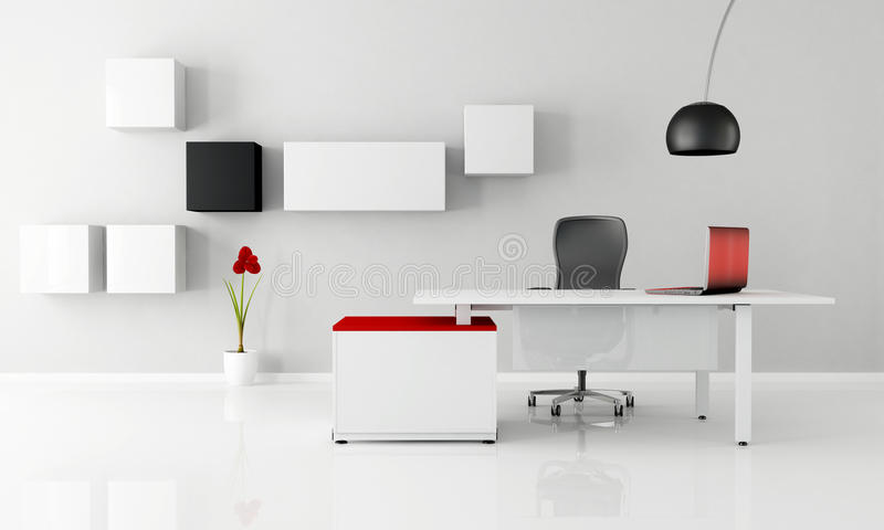 bureau minimaliste illustration stock illustration du noir 19930627. Black Bedroom Furniture Sets. Home Design Ideas