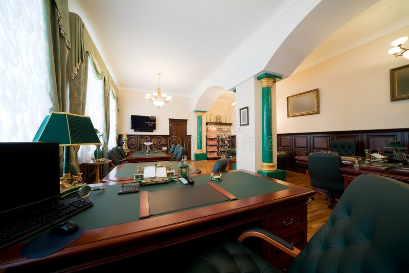 Bureau moderne et de luxe image libre de droits