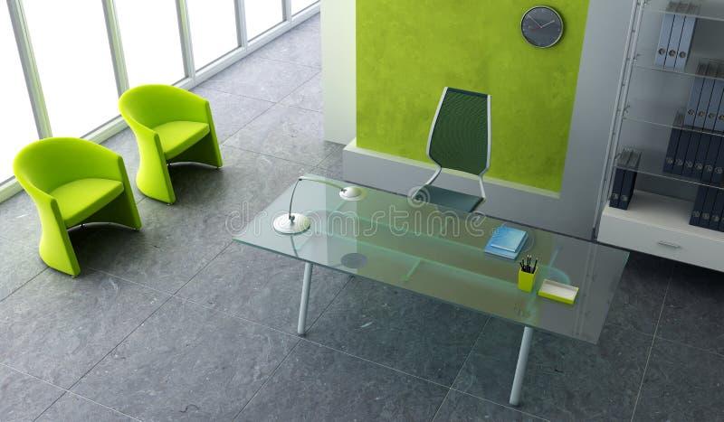 bureau moderne intérieur illustration de vecteur