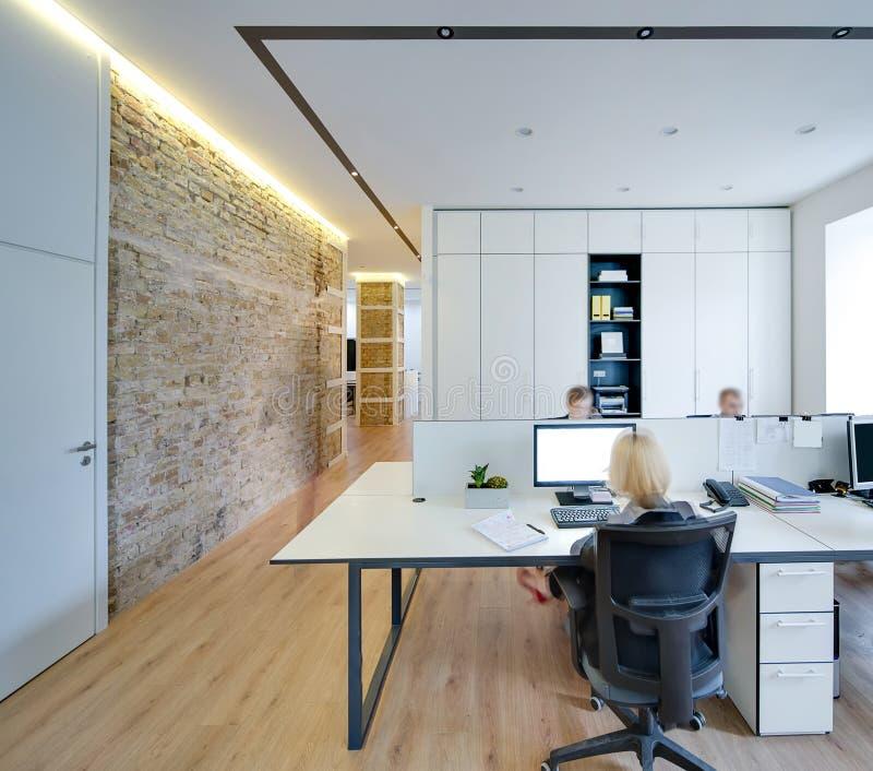 Bureau in moderne stijl stock fotografie