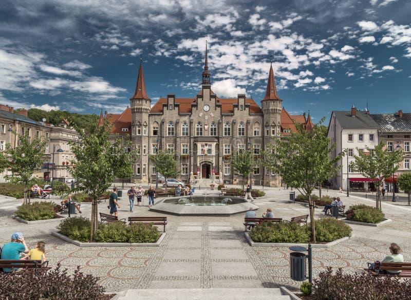 Bureau municipal de la ville de Walbrzych photo libre de droits