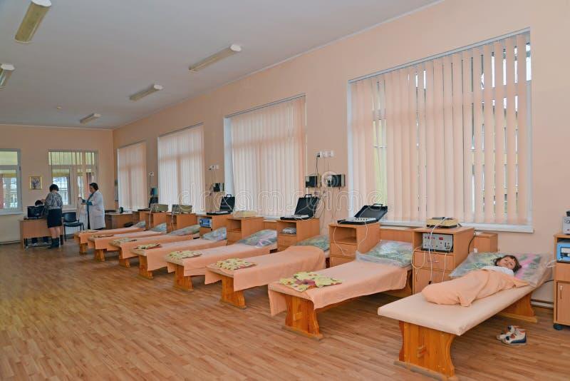 Bureau physiothérapique du sanatorium des enfants image libre de droits