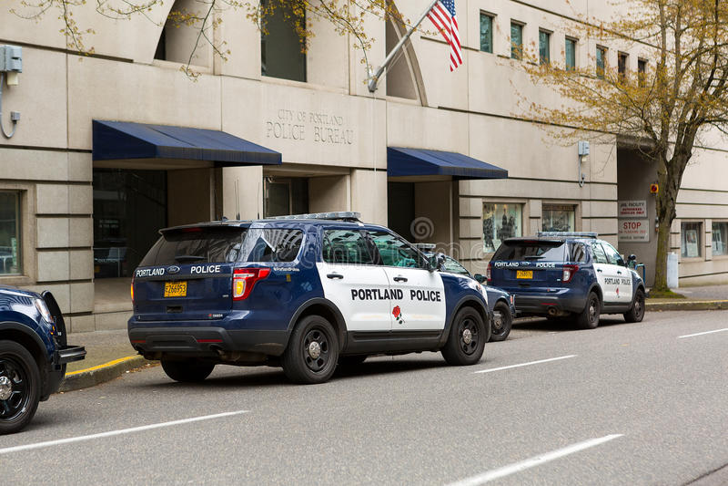 Bureau SUVs de police de Portland photographie stock libre de droits