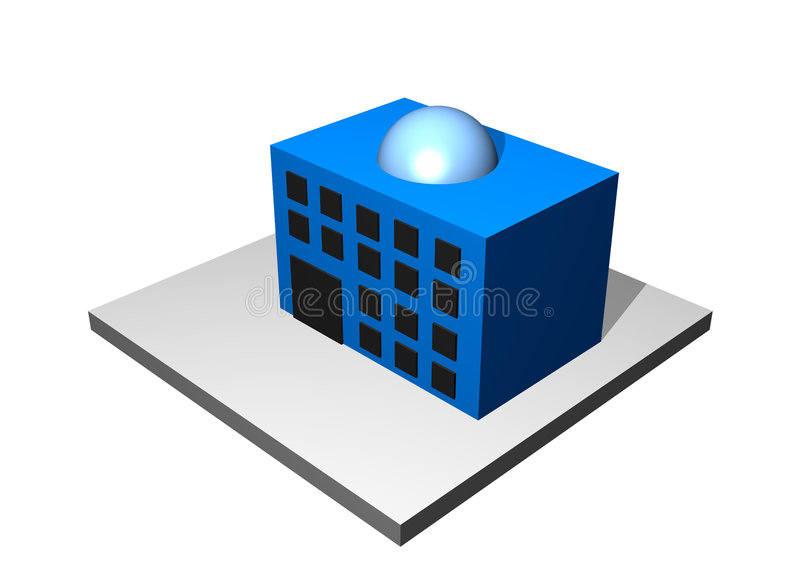 Bureau - tableau industriel de fabrication illustration stock