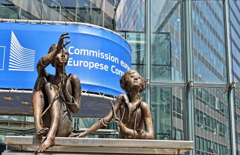 Bureau van de Europese Commissie in Brussel royalty-vrije stock afbeelding