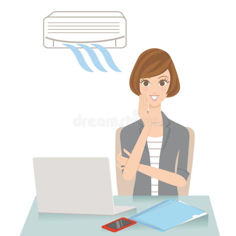 Bureau van het thermische comfort vector illustratie