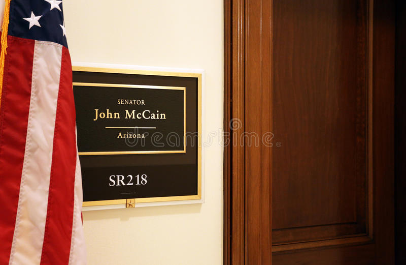 Bureau van Senator John McCain royalty-vrije stock foto's
