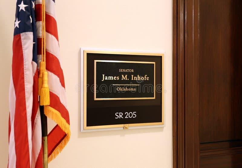 Bureau van Verenigde Staten Senator James Inhofe royalty-vrije stock fotografie