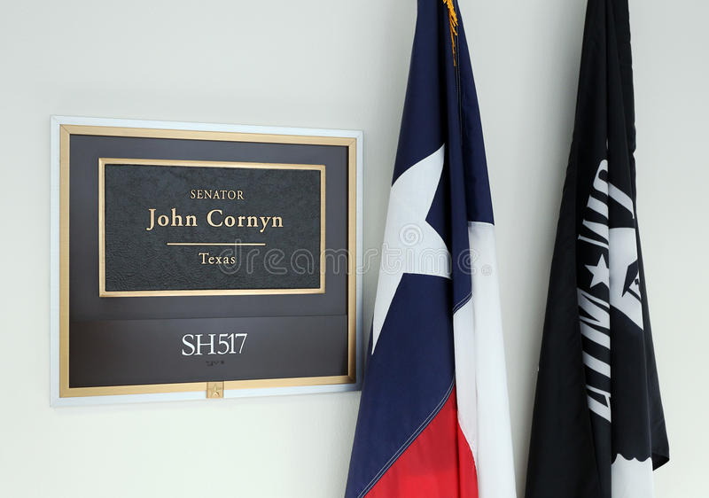 Bureau van Verenigde Staten Senator John Cornyn stock foto