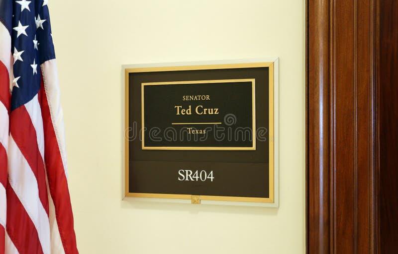 Bureau van Verenigde Staten Senator Ted Cruz stock afbeeldingen