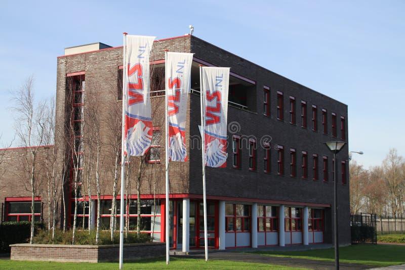Bureau van VLS groep in Zwijndrecht Nederland gespecialiseerd in het schoonmaken activiteiten stock foto's