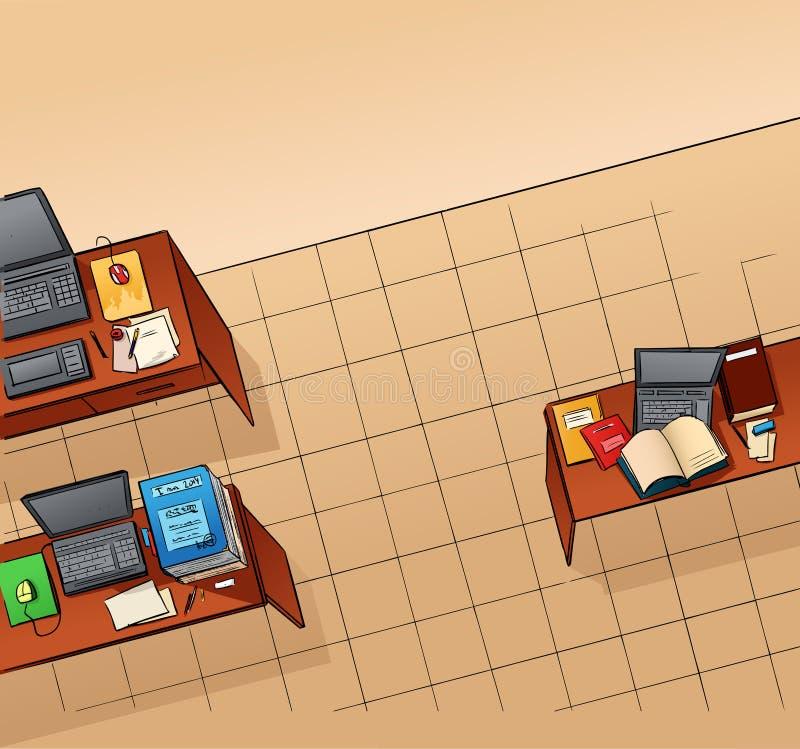 Bureau vide illustration de vecteur