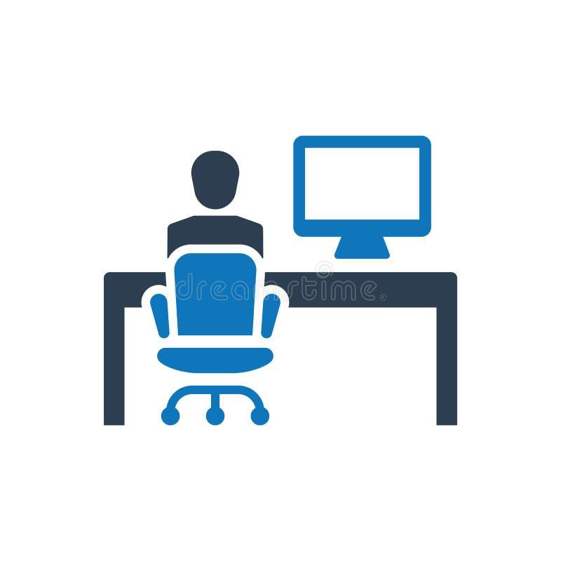 Bureau Werkend Pictogram vector illustratie
