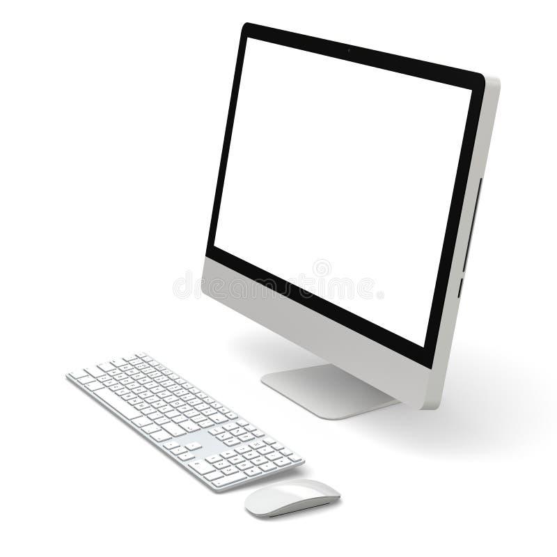 bureaucomputer royalty-vrije illustratie