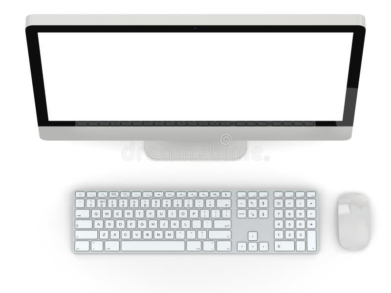 bureaucomputer stock illustratie