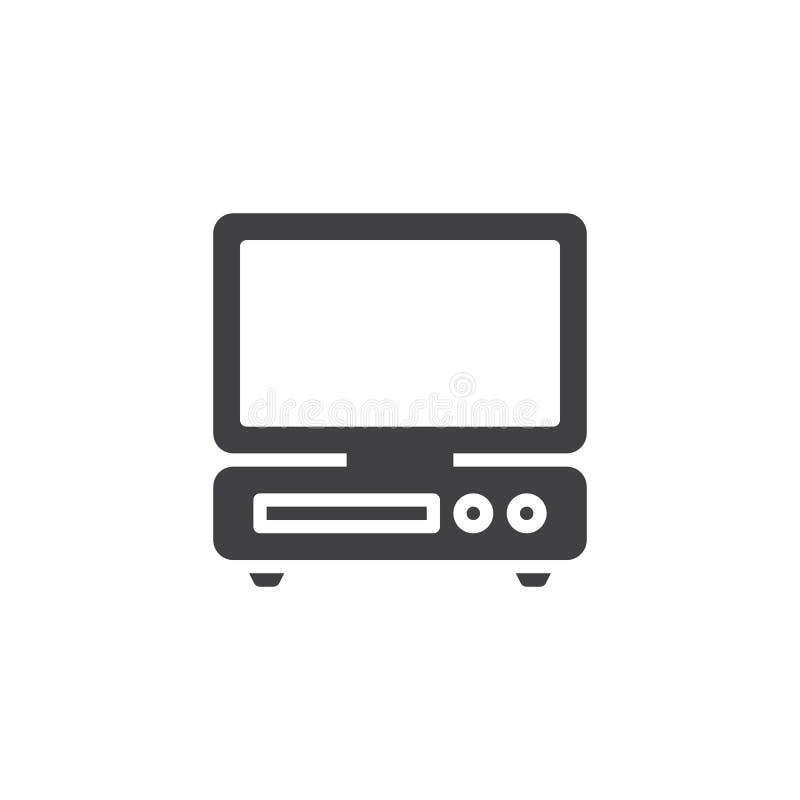 bureaucomputer vectorpictogram royalty-vrije illustratie