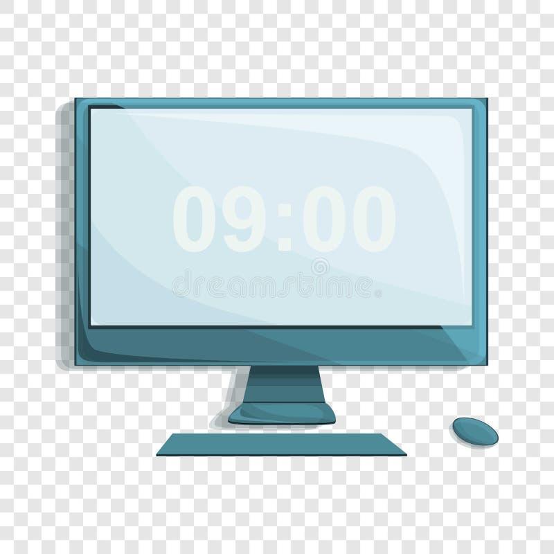 bureaucomputerpictogram, beeldverhaalstijl vector illustratie