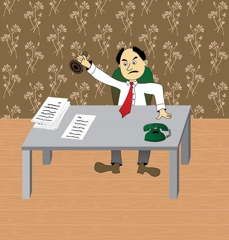Bureaucrat vector illustration