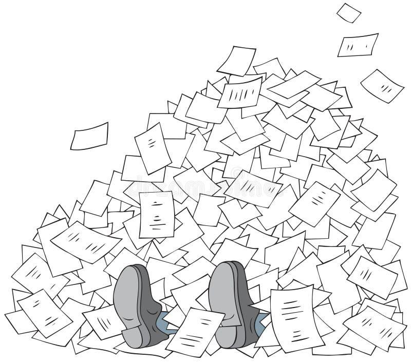 Bureaucratie stock illustratie