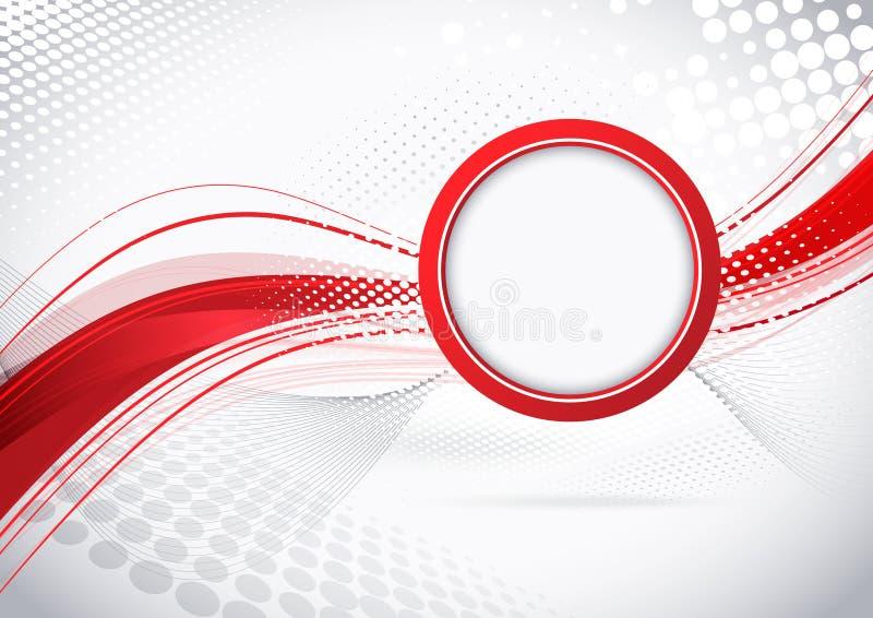 Bureaucratische formaliteiten met cirkel royalty-vrije illustratie