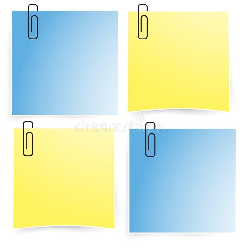 Bureaudocument blocnote op de reeks van het muurpictogram (vector) stock illustratie