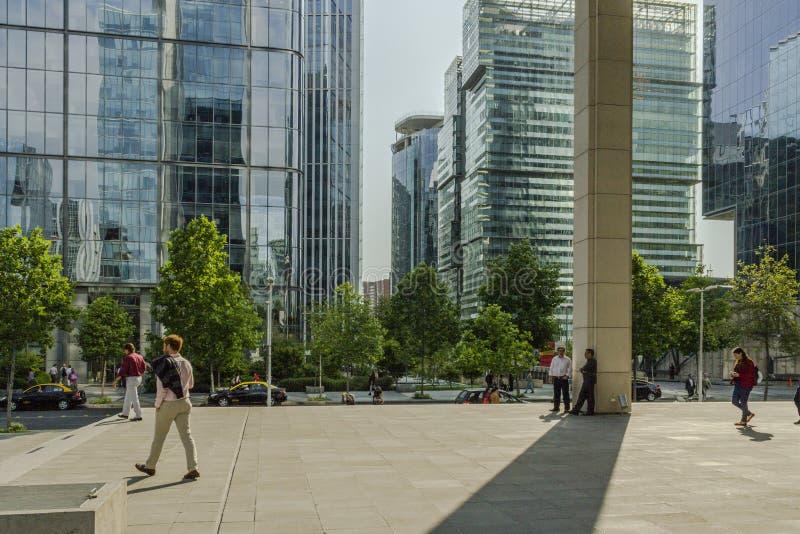 Bureaugebouwen in moderne stad stock afbeeldingen
