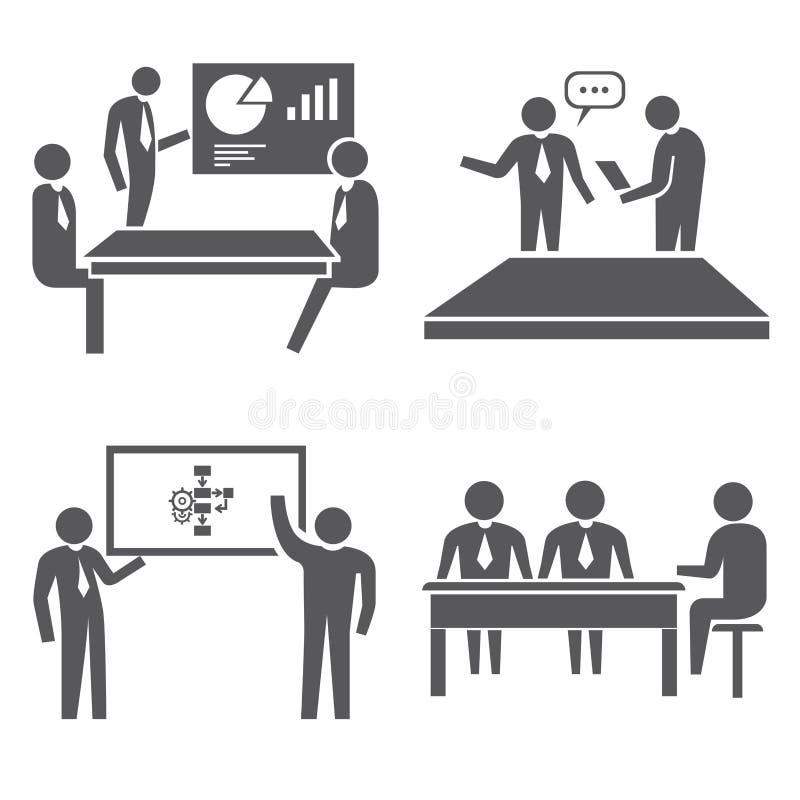 Bureaupictogrammen vector illustratie