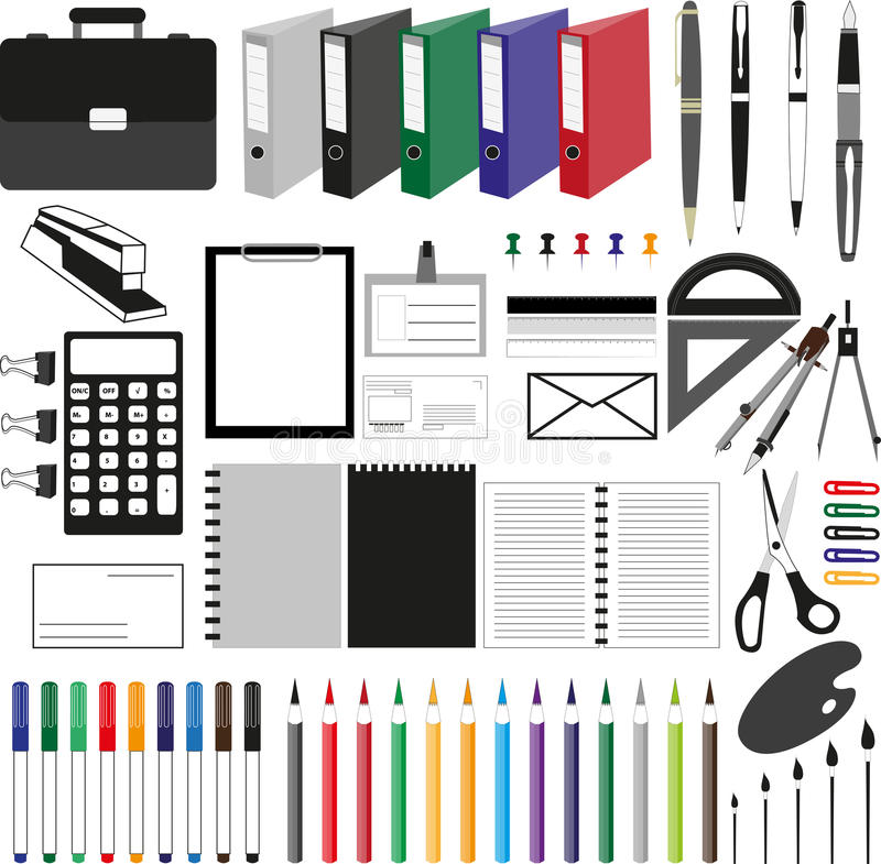 Bureaux illustration stock