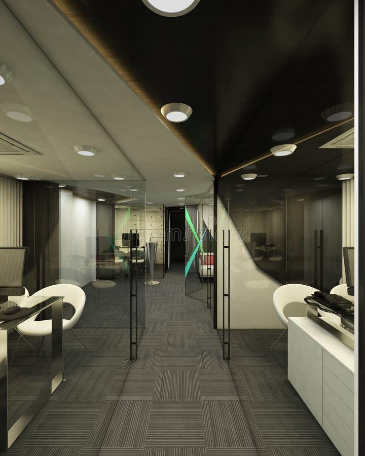 Bureaux 3D image libre de droits