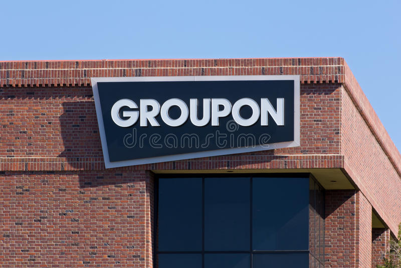 Bureaux de Groupon dans Silicon Valley photographie stock