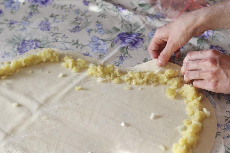 Burek с картошками стоковое изображение rf