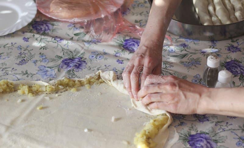 Burek с картошками стоковое изображение