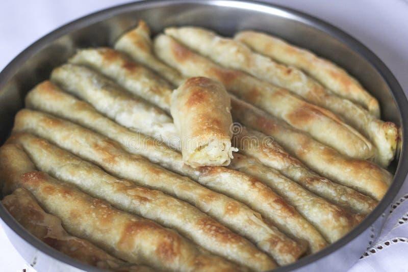 Burek с картошками стоковые фото