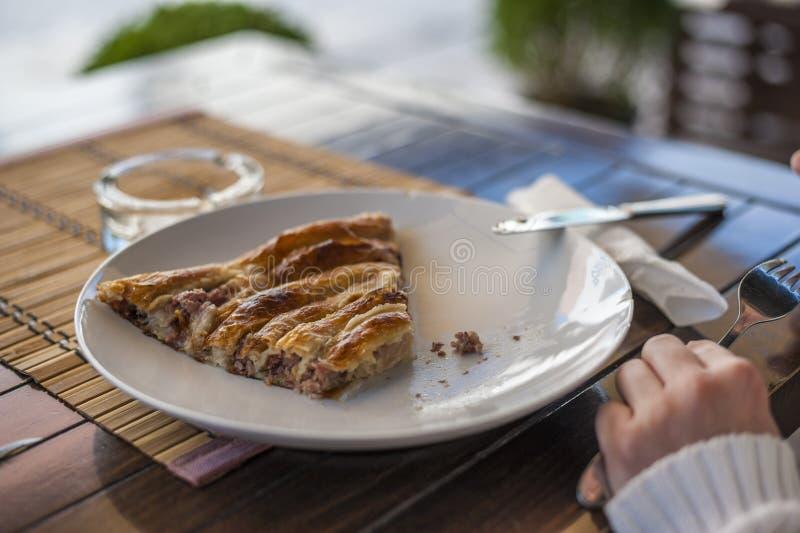 Burek - Traditional Bosnian meat pie stock photos