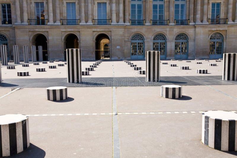 Buren's columns, Paris royalty free stock image