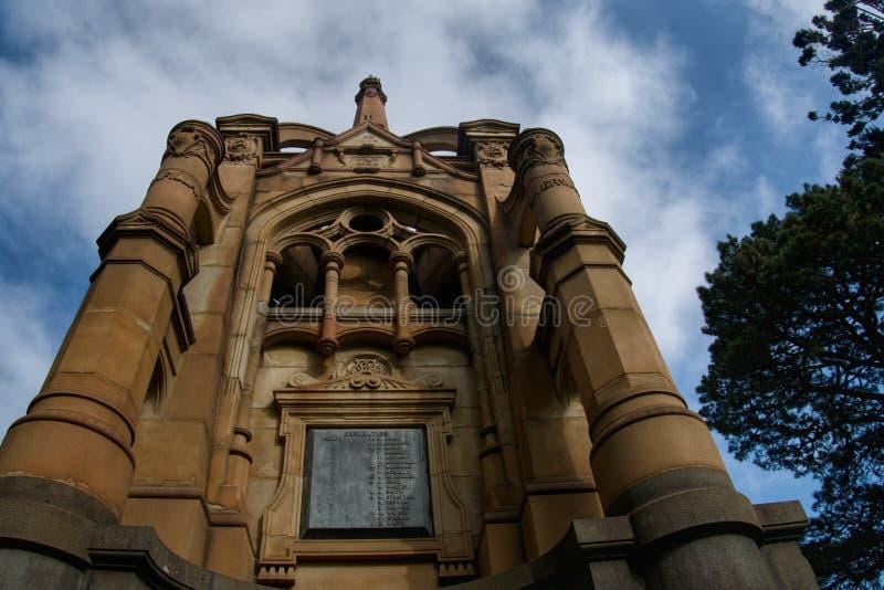 Burenkrieg-Monument, Könige Domain Melbourne Australien lizenzfreies stockbild