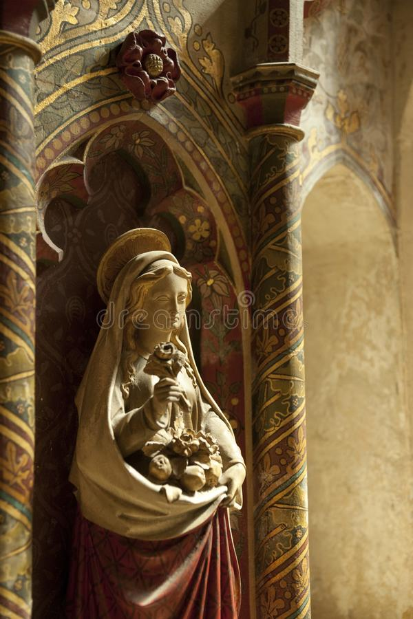 Burford Oxfordshire, UK, Juli 2013, St John Baptist Church royaltyfri foto