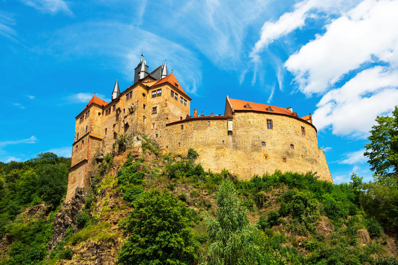 Burg de Kriebstein em Sachsen, Alemanha fotos de stock royalty free