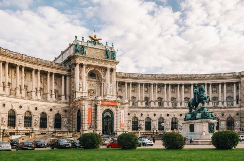 Burg de Neue ou castelo novo do palácio de Hofburg, Viena imagem de stock royalty free