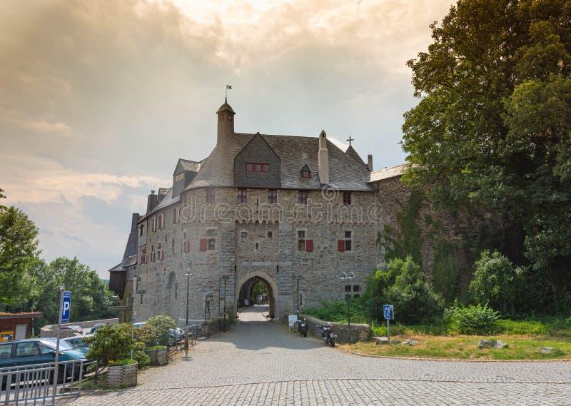 Burg de Schloss del castillo del Burg situado en Burg un der Wupper Solingen fotografía de archivo