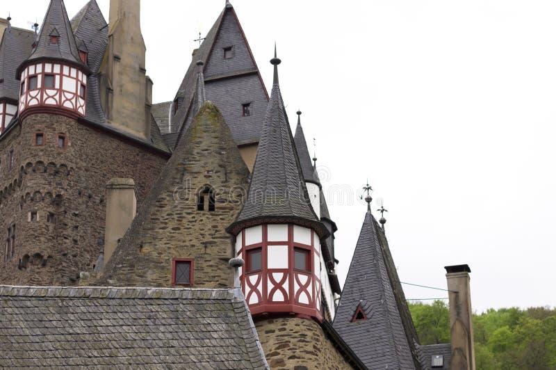 Burg Eltz, Allemagne : Détails du beau château d'Eltz image stock