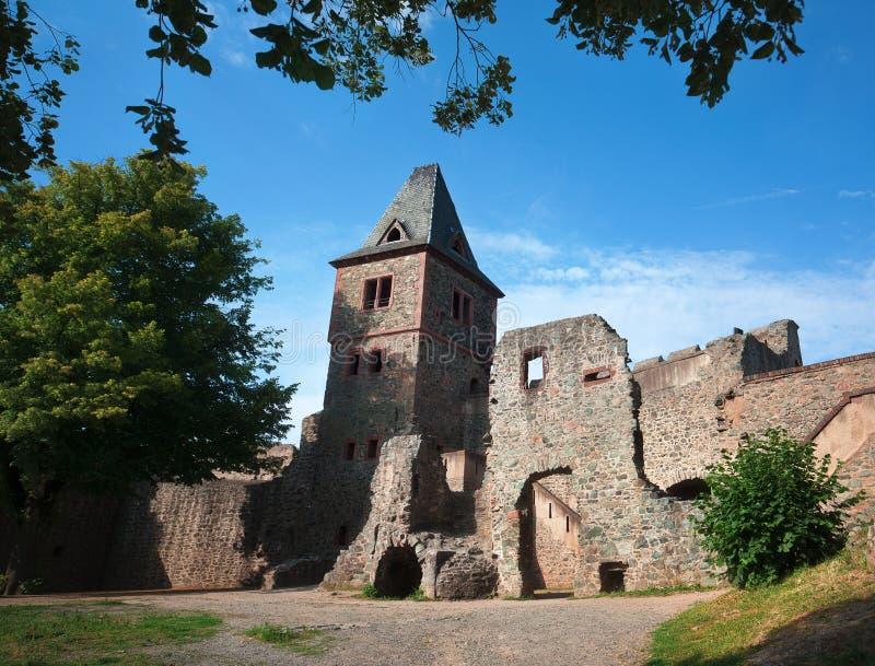 Burg Frankenstein in Germania immagine stock libera da diritti