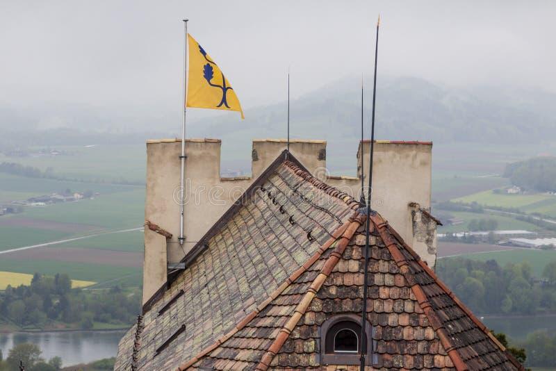 Burg Hohenklingen Stein am Rhein Zwitserland stock foto