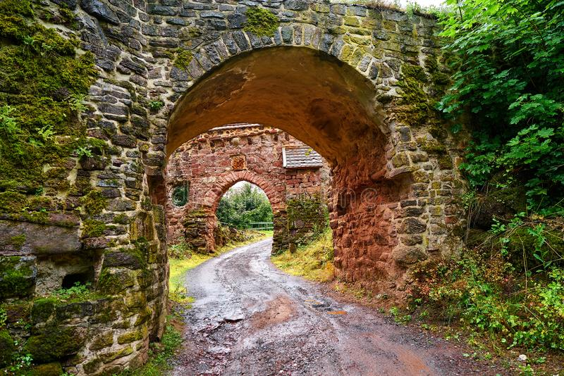 Burg Hohnstein ruiny w Harz Neustadt Niemcy fotografia royalty free